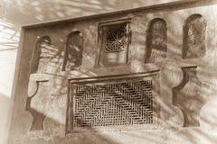 在传统阿拉伯房子的墙壁细节 库存照片