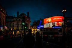 在伦敦光的爱  免版税图库摄影