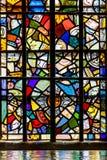 在伦敦塔的彩色玻璃 免版税库存照片