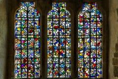 在伦敦塔里面的彩色玻璃 免版税库存照片