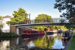 在伦敦的一点威尼斯运河 图库摄影
