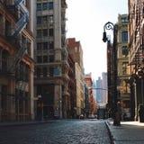 在伦敦苏豪区曼哈顿纽约的空的街道 免版税图库摄影