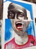 在伦敦街道的街道画画象 库存照片