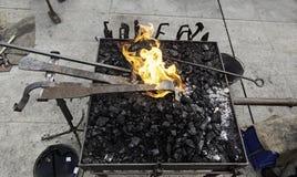 在伪造的炭烬 免版税库存照片