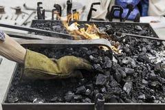 在伪造的炭烬 图库摄影