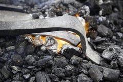 在伪造的炭烬 库存照片