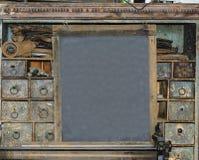 在伪造的老黑板 免版税库存图片