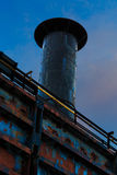 在伯利恒Pa的工厂钢堆 库存照片