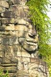 在位于班迭棉吉班迭棉吉省省的banteay chhmar寺庙的令人惊讶的看法柬埔寨 免版税库存照片