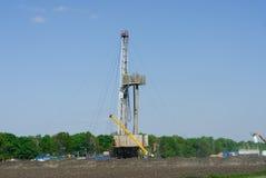 在位置的设施油井维修 库存照片