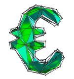 在低多样式绿色做的欧洲标志被隔绝在白色背景 库存图片