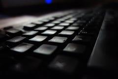 在低灯的键盘 库存照片