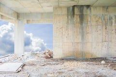 在住房的建造场所内部大厦计划发展有拷贝空间的增加文本 库存图片