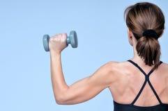 在体育健身女孩的背面图 库存照片