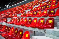 在体育场的塑料位子 库存照片