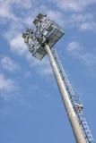 在体育场的泛光灯 免版税库存图片