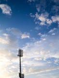 在体育场的聚光灯 图库摄影