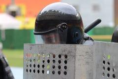 在体育场的警察 库存图片
