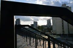 在体育场附近的旋转门 免版税库存照片