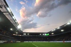 在体育场Dnipro竞技场的看法 免版税库存图片