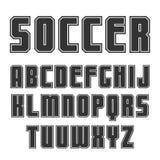 在体育样式的Sans Serif字体 免版税库存图片