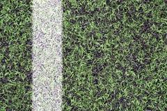 在体育草皮的标记 免版税库存图片
