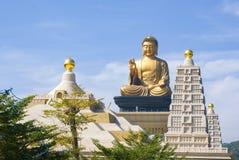 在佛光山的菩萨雕象在高雄,台湾 免版税库存照片