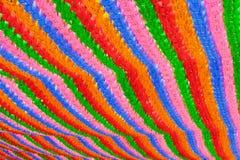 在佛教寺庙汉城的五颜六色的灯笼背景 免版税库存照片