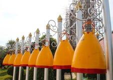在佛教寺庙的响铃 库存照片