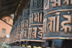 在佛教寺庙的响铃 库存图片
