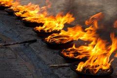 灼烧的仪式 库存图片