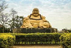 在佛教寺庙的菩萨雕象,巴西 免版税库存照片