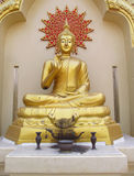 在佛教寺庙的菩萨雕象 图库摄影
