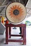 在佛教寺庙的锣在帕纳泰国Norasing寺庙泰国 免版税库存图片