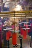 在佛教寺庙的香 免版税库存图片