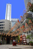 在佛教寺庙,新加坡, 2011年8月21日的螺旋装饰 免版税图库摄影