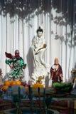 在佛教的观世音菩萨雕象 免版税库存图片