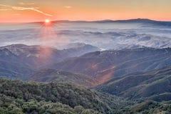 在佛瑞蒙峰顶国家公园的日落 免版税库存图片