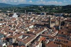 在佛罗伦萨屋顶间 库存照片