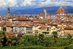 在佛罗伦萨市的看法从Piazzale米开朗基罗在意大利 库存照片