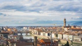 在佛罗伦萨的多云天空 库存照片