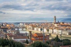 在佛罗伦萨的多云天空 免版税图库摄影