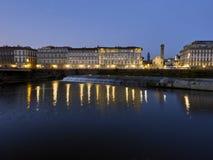 在佛罗伦萨的日落 免版税库存图片