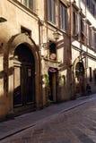 在佛罗伦萨,意大利的老部分的酒吧 库存图片