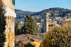 在佛罗伦萨,托斯卡纳意大利附近的菲耶索莱 免版税库存照片