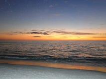 在佛罗里达墨西哥湾海岸的日落 库存图片