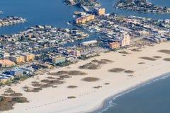 在佛罗里达海滩的鸟瞰图 库存图片