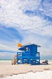 在佛罗里达西海岸的午睡关键海滩  免版税库存图片