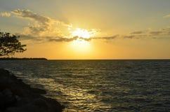 在佛罗里达钥匙的日落 免版税图库摄影