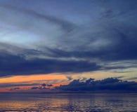 在佛罗里达钥匙的美好的日落 免版税图库摄影